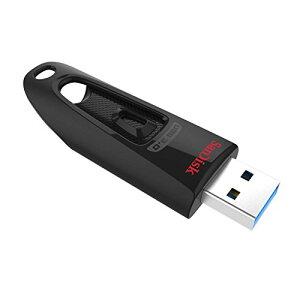 【 サンディスク 正規品 】 USBメモリ 64GB USB 3.0 スライド式 SanDisk Ultra 読取最大130MB/秒 SDCZ48-064G-JA57
