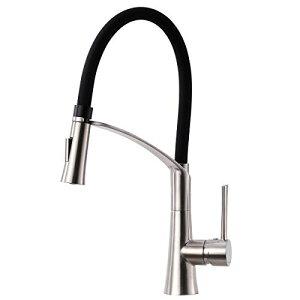 キッチン蛇口 キッチン用水栓 シングルレバーステンレス蛇口 伸縮ノズル 360度回転 冷温切り替え 2wayの吐水式 泡沫水流 シャワ