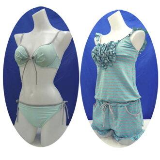 妇女的泳装比基尼 9 M (8855) ♦ Samusebien 爬衣设置 3 件女式泳衣边框绿色号