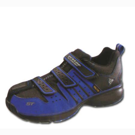 ダンロップ 安全靴 スニーカー マジックテープ セーフティシューズ 鉄芯 軽量 撥水 ゆったり 幅広 4E 耐油底 DUNLOP マグナムST302 青 24.0〜30cm