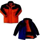 作業服防寒着作業着冷凍倉庫用防寒コートサンエスBO8001(ST8001)作業用ブルゾン防寒ジャケット防寒ジャンパー冷蔵庫用M〜4Lサイズオレンジ/ブルー