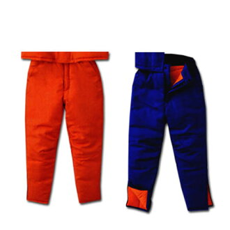 工作服抵達冷凍的倉庫為冰箱冷冷的天氣褲子桑德斯 ST8006 工作褲穿 M-4 L 大小橙色 / 藍色