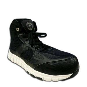安全靴 ハイカット 安全スニーカー CO-COS (コーコス) HZ-341 メッシュ 軽量 FIRE FOX 樹脂先芯 セーフティスニーカー 24.5〜28.0cm ブラック 黒