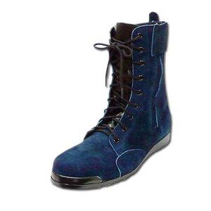 踏み抜き防止 安全靴 高所用 半長靴 編み上げ 革 みやじま鳶 Nosacks N4010 鉄芯 25〜28.0cm 勝色 紺