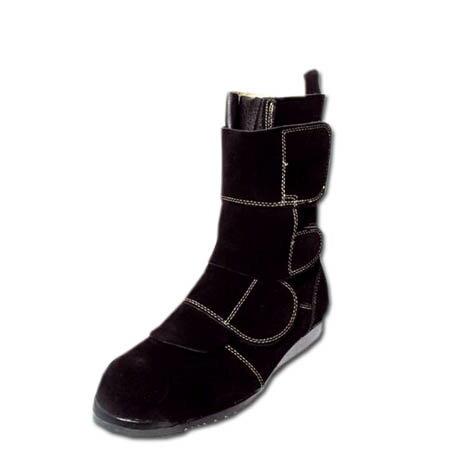 安全靴 半長靴 高所 安全半長靴 Nosacks 鍛冶鳶 KT207 高所溶接用安全靴 高所用 セーフティブーツ ノサックス 踏抜き防止 マジックテープ 23.5〜28.0cm ブラック 黒