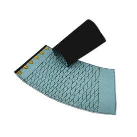 手甲 きねや 6枚コハゼ 「きねや無敵」 青縞手甲(藍染)腕貫 幅約12.7cm 日焼け 防寒 汚れ防止に 中・大・特大 5双セット