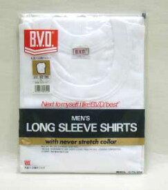 B.V.D. 丸首八分袖Tシャツ 良質人気の肌着BVD★LLサイズ【5000円(税別)以上送料無料】