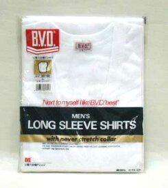 B.V.D. U首八分袖Tシャツ 人気肌着BVD ★M〜Lサイズ【5000円(税別)以上送料無料】