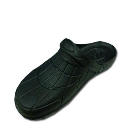サンダル カルカル仕事人 HM9050 穴なしクロッグタイプ 軽量 EVAサンダル 作業用サンダル 滑り止め 作業靴 女性サイズ対応 SS S M L LL 3Lサイズ ブラック 黒