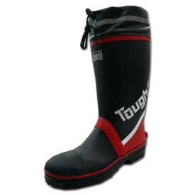 安全靴 長靴 防水 安全長靴 メンズ Tough G 喜多 KR-7270 フード ロング ゴム長靴 長くつ 鉄芯 セーフティブーツ M L LL 3L 黒