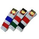 スキーソックス(ロング丈) パイル 靴下 ナウチカ 25.0〜27.0cm 作業用 色柄おまかせ
