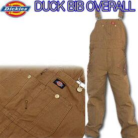 ディッキーズ(Dickies) ビブ オーバーオール ブラウン DB100 作業服 デニム ディキーズ SS〜4L