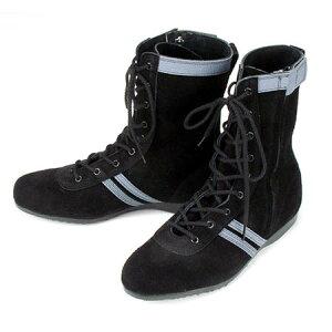 安全靴 半長靴 セーフティーブーツ 青木産業 ATENEO(アテネオ) 技 F-1 国産品 横ファスナー スエード F1 鋼鉄先芯 黒 23.5〜27cm