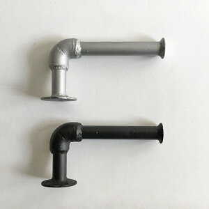 インダストリアル水道管トイレットペーパーホルダー(S)/2カラービス付き簡単DIY壁付けタオル掛けにも/シンプルブルックリン東海岸ガス管男前インテリア(prt-331)