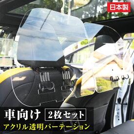 [日本製](2枚1セット)掛け式 車内の飛沫ブロッカー !お車に応じた (車向け 飛沫防止用 透明 アクリル板) 横幅60cmタイプ タクシー 介護車両 営業車 家庭用乗用車 車内飛沫防止 運転席 icp-b6050