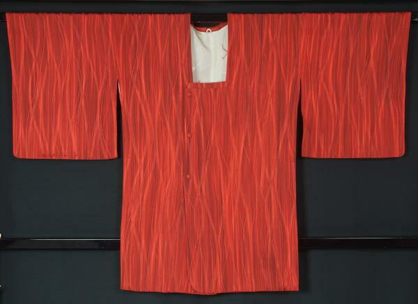道行コート よろけ縞模様★【中古】【リサイクル着物 中古品 着物 帯 きもの 正絹 kimono リサイクル帯 着物セット アンティーク着物 着物買い取り 着物買取 きもの天陽 きものてんよう】