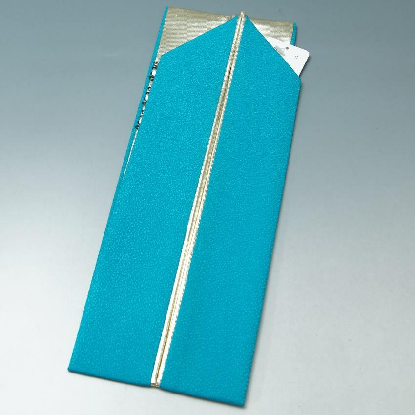 新品 重ね衿 振袖用 リーバーシブル (2)シアン×ゴールド 【リサイクルきもの・リサイクル着物・通販・販売・アンティーク着物・着物買い取りの専門店・りさいくるきものてんよう】