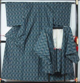 村山大岛紬合奏链模式 ★ (只在日本免费 shippinng) [回收和服 & 和服买再生和服与古董和服店