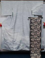 未使用美品訪問着・袋帯・帯〆作家落款入り★送料無料(FreeshippinngonlyinJapan)【中古】【リサイクルきもの・リサイクル着物・アンティーク着物・着物買い取りの専門店・りさいくるきものてんよう】
