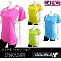 【DOUBLE3(ダブルスリー/ダブル3)】レディースDW-5280マルチ水玉ランニングTシャツライトブルー/ライトグリーン/イエロー/ピンク(DW5280LB)