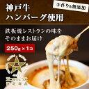 ハンバーグ【レンジで簡単調理】【プレミアムハンバーグ】神戸牛ハンバーググラタン250g