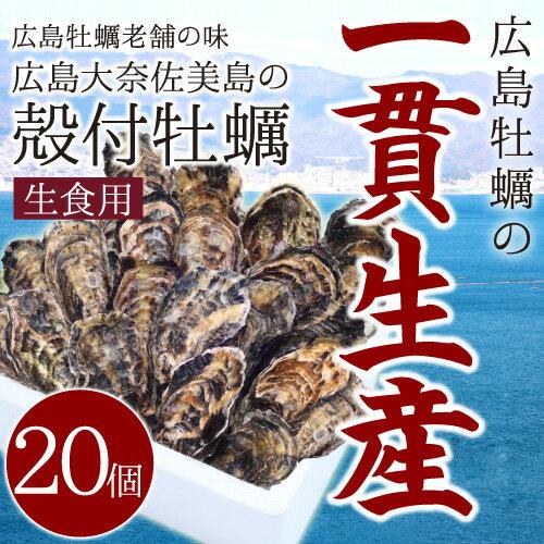 【今だけ!200円OFFクーポン発行中】 広島牡蠣老舗の味!殻付き牡蠣20個[生食用]