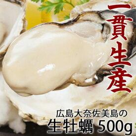 広島産 生牡蠣 老舗の味!特選 牡蠣むき身 500g発泡箱 生食OK 牡蠣