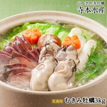 広島牡蠣老舗の味!特選むき身牡蠣3kg[生食用]
