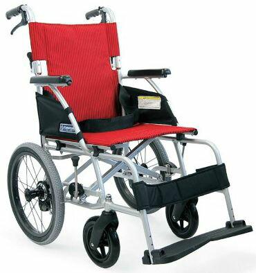 カワムラサイクル ノーパンクタイヤ アルミ介助式車いす BML16-40SB 中床 ソフト軽量タイヤ
