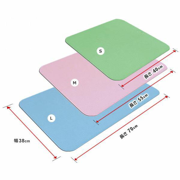 シンエイテクノ ダイヤタッチ Lサイズ SD10/L 自沈式 ゴム製すべり止めお風呂マット 70×38×0.3cm