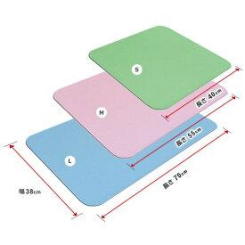 シンエイテクノ ダイヤタッチ Mサイズ SD10/M 自沈式 ゴム製すべり止めお風呂マット 55×38×0.3cm