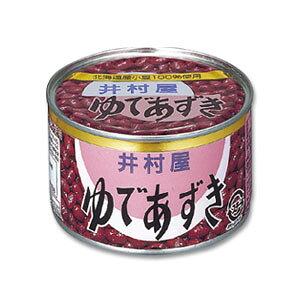 【井村屋】ゆであずき430グラム(特4号缶) 北海道産小豆100%使用【缶詰め】非常食・防災グッズ、日常食に・・・、あす楽対応