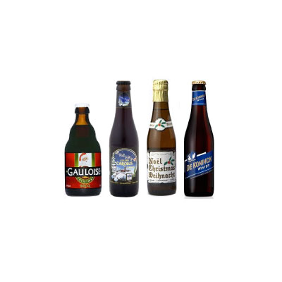 【数量限定 ベルギービール 飲み比べセット】クリスマスビール 2012年クリスマススペシャルビール 4本セット250ml〜330ml瓶【ビール・発泡酒】【あす楽対応】