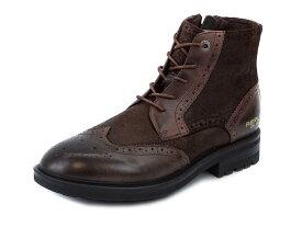 REPLAY リプレイ 革靴 GMC37 C0008L メンズ 男性 ショートブーツ レースアップ 018 DK BROWN ダークブラウン 40-45 【送料無料 並行輸入品】