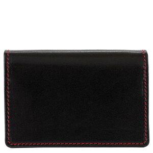 Whitehouse Cox ホワイトハウスコックス カードケース S2380 GUSSETED CARD CASE / BRIDLE メンズ 男性 レディース 女性 ユニセックス 男女兼用 ブライドルレザー BLACK/RED ブラック×レッド 【送料無料 並行