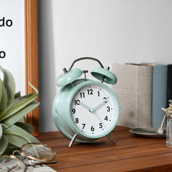 置き時計目覚まし時計置時計おしゃれ北欧アナログ大音量かわいいアラームクロックテーブルクロック時計光小さいベルアラームバックライトメンズレディースユニセックス子供アンティーク小型レトロシンプル子供インダストリアル男前西海岸
