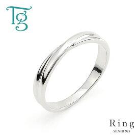 リング メンズ レディース シルバー 刻印 シンプル クロスライン Xライン 細身 上品 おしゃれ 指輪 偶数サイズ シルバーカラー Silver 925