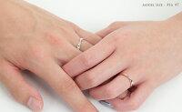 ペアリング刻印シルバーピンクシルバーダイヤモンドシンプルひねりメビウス細身上品おしゃれ指輪偶数サイズマリッジリング結婚指輪Silver925送料無料2本セット価格