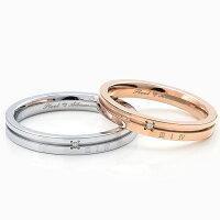 ペアリング刻印ステンレスダイヤモンドシンプルシルバーカラーローズピンクゴールドカラー円周率デザインおしゃれ指輪マリッジリング結婚指輪サージカルステンレス316Lノンアレルギー金属アレルギー対応送料無料2本セット価格