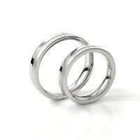 ペアリング刻印ステンレスマット&ポリッシュツートン仕上げスティールシルバーカラーシンプルおしゃれ指輪マリッジリング結婚指輪サージカルステンレス316Lノンアレルギー金属アレルギー対応送料無料2本セット価格