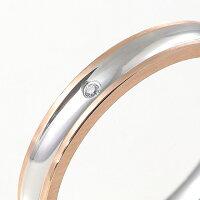 ペアリング刻印ステンレスシンプルキュービックジルコニアスティールシルバーカラーローズピンクゴールドカラーマットライン細身おしゃれ指輪マリッジリング結婚指輪サージカルステンレス316Lノンアレルギー金属アレルギー対応送料無料2本セット価格