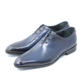 TERRA SHOE STORE ホールカット ネイビー 25cm〜27.0cm ビジネスシューズ 紳士靴 本革