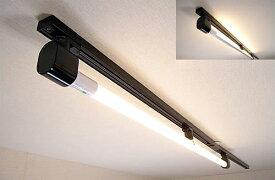 KRS-1A-BK-SET-L カメダデンキ カメダレールソケットS電球色LEDランプセット 配線ダクト用LEDベースライト1灯タイプ [LED電球色][ブラック] あす楽対応