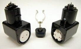 KRS-1C-BK カメダデンキ カメダレールソケットS 配線ダクト用LEDベースライトソケット1灯タイプ [ブラック][ランプ別売] あす楽対応