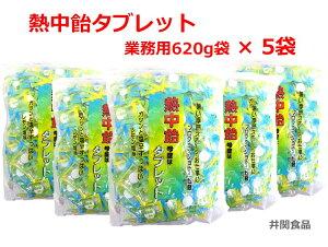 熱中飴タブレット[5袋] 塩飴タブレット 『熱中飴タブレット (レモン塩味) 620g×5袋』 業務用大袋 ■井関食品