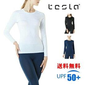 TESLA テスラ スポーツインナー レディース オールシーズン スポーツシャツ コンプレッションウェア 長袖 着圧シャツ 機能性インナー FUD01
