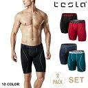 【メール便送料無料】TESLA テスラ クールドライ ボクサー ブリーフ 2枚セット メンズ 前開き 9インチ スポーツ アン…