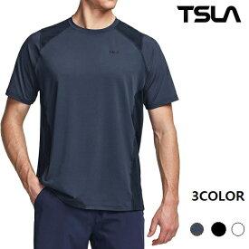 (テスラ)TESLA 半袖 Tシャツ 冷感 シャツ メンズ [UVカット・吸汗速乾] ランニングウェア スポーツウェア MTS41