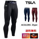 (テスラ)TESLA メンズ 冬用起毛 スポーツタイツ [吸湿発熱・保温] コンプレッションウェア パワーストレッチ アンダー…