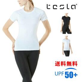 TESLA テスラ スポーツインナー UVカット レディース 半袖 吸汗速乾 コンプレッションウェア WV13/FUB03